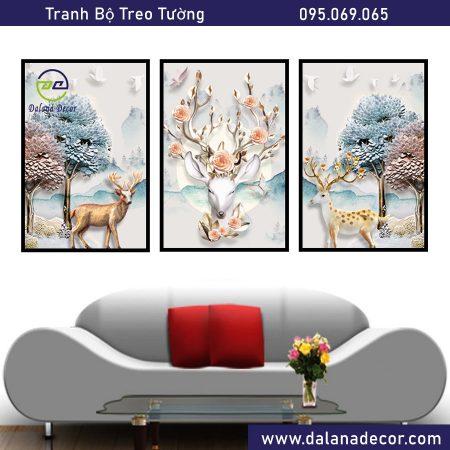 tranh bộ treo tường dalana decor