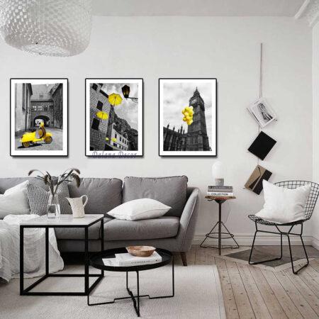 mẫu tranh treo tường cho quán cafe
