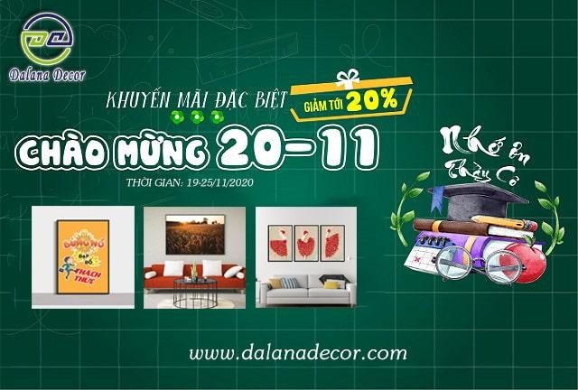 giảm giá 20-11 dalana decor