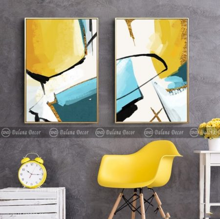 Bộ tranh canvas trừu tượng HG3019