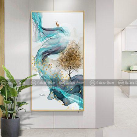 Bộ tranh canvas trừu tượng hưu nai HG9000